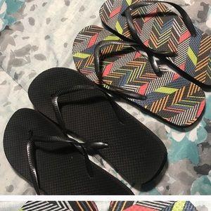 Shoes - 2 Pairs of Flip Flops. Size 9/10. MUST BUNDLE
